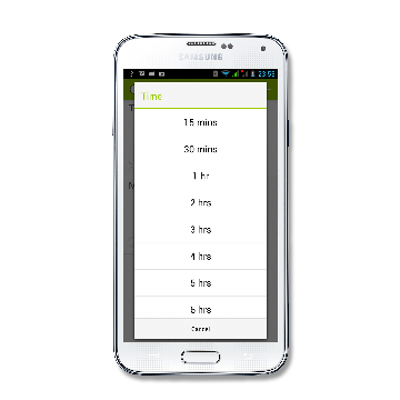 logtempo Android times screenshot